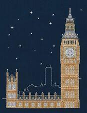 DMC BK1723 London by Night - Glow in the Dark Cross Stitch Kit by Mr X Stitch