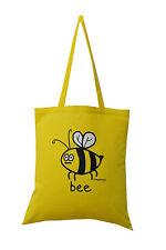 NEW TOTE BAG: BEE, Honey yellow, 100% cotton