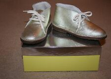 J.CREW CREWCUTS GIRLS' SHEARLING MACALISTER BOOTS SIZE K13 GOLD