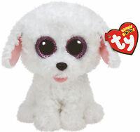 Beanie Boos Glubschi weißer Hund Pippie Glitzeraugen 15 cm neu 2016