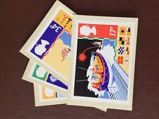 F1g postcards x 4 4 royal mail cards safety at sea 1985