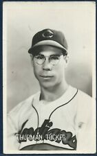 1948 CLEVELAND INDIANS Team Issue Postcard THURMAN TUCKER