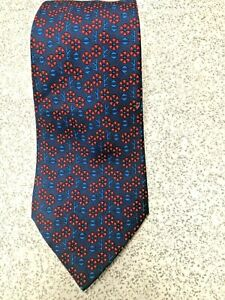HERMES ABSTRACT FLOWERS 7576 SA 100% SILK TIE NECKTIE EXECUTIVE BUSINESS SUIT
