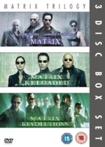 The Matrix + Matrix Reloaded + Matrix Revolutions Trilogy New Reg 2 DVD Box Set
