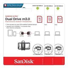 Sandisk Ultra Dual 16GB 32GB 64GB 128GB 256GB OTG USB m3.0 Pen Drive lot SDDD3