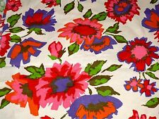 VTG Fabric Material Flower Floral Drapes Pillows Approx 3+ Yds