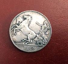 MONETA REGNO 10 Lire biga argento 1927 mb due rosette  17/12/15