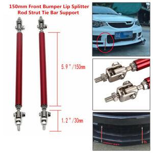 Adjustable 5.9'' Front Bumper Lip Splitter Rear Diffuser Strut Tie Bar Support