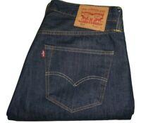Mens LEVI'S 501 Dark Blue (0162) Denim Jeans W34 L32