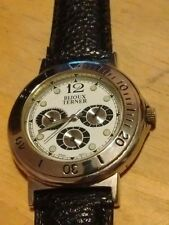 Vintage Bijoux Terner Men's watch, running with new battery and leather band  M