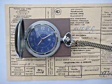 Molnija Quartz SOVIET Russian USSR Pocket Watch