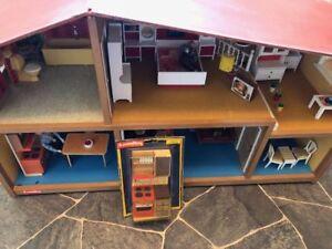 Vintage 70's Lundby Stove & Hood Set Swedish Dollhouse Furniture Scandinavian