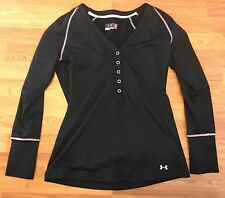 Under Armour Breast Cancer Awareness Fitted Black Shirt Medium