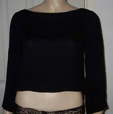 Bandeau Party Long Sleeve Cropped Tops & Shirts for Women