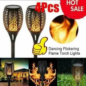 4 Packs Solar Torch Dance Flickering Flame Light Garden Waterproof Lamp Outdoor