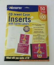 Memorex CD Jewel Case Inserts with Spine Labels 50 Pack