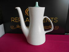 Poole Twintone Ice Green and Dove Grey Large Coffee Pot