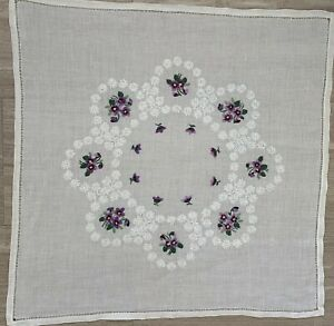 German Tablecloth Cotton With Violets