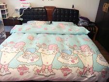 LITTLE TWIN STAR Light Blue QUEEN SIZE DOUBLE BED SHEET SET 4 PCS Cotton Bedding