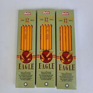 1993 Berol Eagle 3 Pkgs #2 HB 2242 Wood Pencils 12 Count (36 Total)
