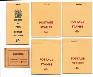 RHODESIA - 1967-70 Stamp Booklets x6 *POST OFFICE FRESH*