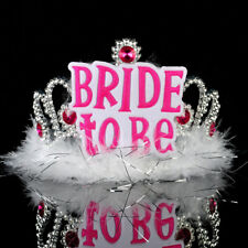 White Black Bride To Be Veil Bridal Crown Bachelorette Hen Event Party Supplies
