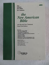 NEW AMERICAN BIBLE Revised New Testament Giant Print 1986 Bonded Leather in Box