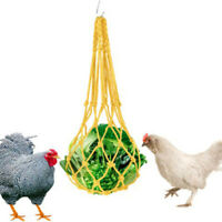 -Chicken Vegetable Net Fruit Treat Snack Holder Hanging Feeder Coop Feeding Tool
