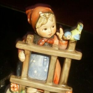 Vintage M I Hummel/Goebel Germany Porcelain Figurine Signs of Spring 203 2/6