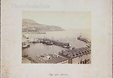 Miguel Aleo Photographe primitif Le port de Nice France Vintage albumine ca 1860