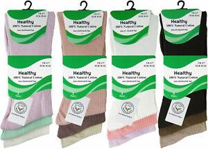 Ladies Diabetic Socks  Stay Up Non Elastic 100% cotton Socks Ladies Size 4 to 7