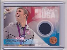 RARE 2016 TOPPS OLYMPIC MICHAEL PHELPS BRONZE RELIC CARD /75 ~ SWIMMING GREAT