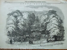 ANTIQUE PRINT DATED 1846 THE ILLUSTRATED LONDON NEWS ASCOT RACES 1846 WINDSOR