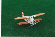 Model aeroplane RC Rainbow Bipe cox 049 or electric biplane laser cut balsa kit