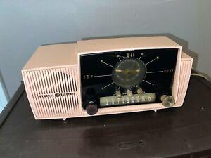 Antique 1950s Mid Century General Electric GE Princess Pink Clock Radio WOW