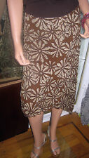 H & M~ Brown Floral skirt~ Hankerchief hem~ with working drawstring~ Size 12R