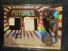 Jalen Reagor 2020 Panini Legacy Futures Dual Patch Auto RC #046/100 Eagles