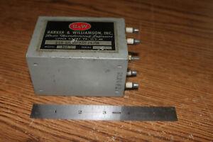 Barker and Williamson B&W 360 SSB Bandpass filter