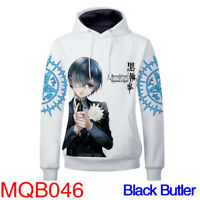 Anime Black Butler Cosplay 3D Hoodie Pullover Hooded Coat Sweatshirt Fashion
