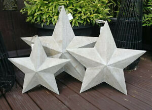Gorgeous Washed Grey / Natural Wooden Barn Star Large- 49cm