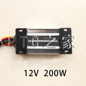 (1)PTC Heating Element Heater 12V 200W Electric Ceramic Thermostatic Thermistor