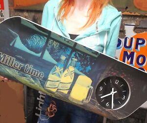 Vintage It's Miller Time Miller High Life Beer Advertising Clock Sign