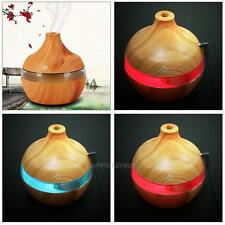 Usb 300ml Humidifier Purifier Air Aroma Mist Wood Led Essential Oil Diffuser
