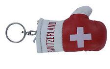 Porte clés Drapeau SUISSE  Mini gant de boxe clé clefs voiture moto NEUF