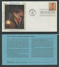 "# 1612 RAILROAD KEROSENE LAMP. Colorano ""Silk"" Cachet, 1979 First Day Cover"