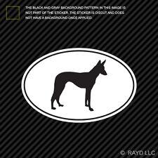 Ibizan Hound Euro Oval Sticker Die Cut Decal Self Adhesive Vinyl dog canine pet