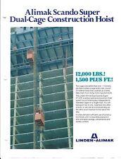 Equipment Brochure - Scando - 27/37 C Construction Hoist Lift - 3 item (E3417)