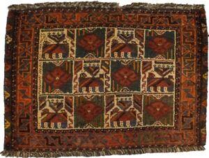 Tribal Floral Design Vintage 1'9X2'4 Small Entrance Oriental Rug Decor Carpet