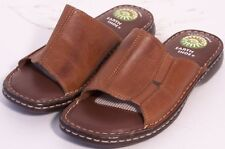 WOMEN MULES  EARTH SHOE  Size  EU 37  US 5.5M BROWN LEATHER NEW