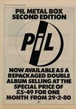 PIL Public Image Limited Metal Box Advert NME Cutting 1980